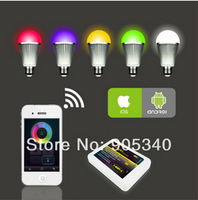 16million colors changing ,RGBW 9W E27 LED bulb ,AC86-264V,Changing Dimmable LED Bubble Ball Bulb,CE ROHS mi.light ,wifi control