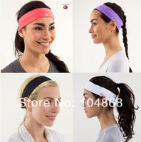 Cheap Sale Women's Brand Lulu Yoga Headwear Solid 4 Colors Casual Sports Headbands Lady's Fashion Active Headwear