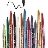 New Magic 12 Colors/Set Cosmetics Makeup Pen Waterproof Eyeshadow Eye Liner Lip Eyeliner Pencil