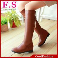 Fashion Women Knee Boots 2014 Brand Design Hidden Wedges Short Fur Shoes Winter Dress Snow Boots DM1439