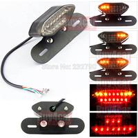 Black Quad ATV 20 LED Motorcycle Running Brake Rear Tail Light License Plate Turn Signal Driving Light Lamp #3834