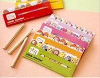 NEW Free ship 1lot=20pcs/korean stationery kawaii cartoon animal memo pad /cute candy color post-it notes / DIY stickers