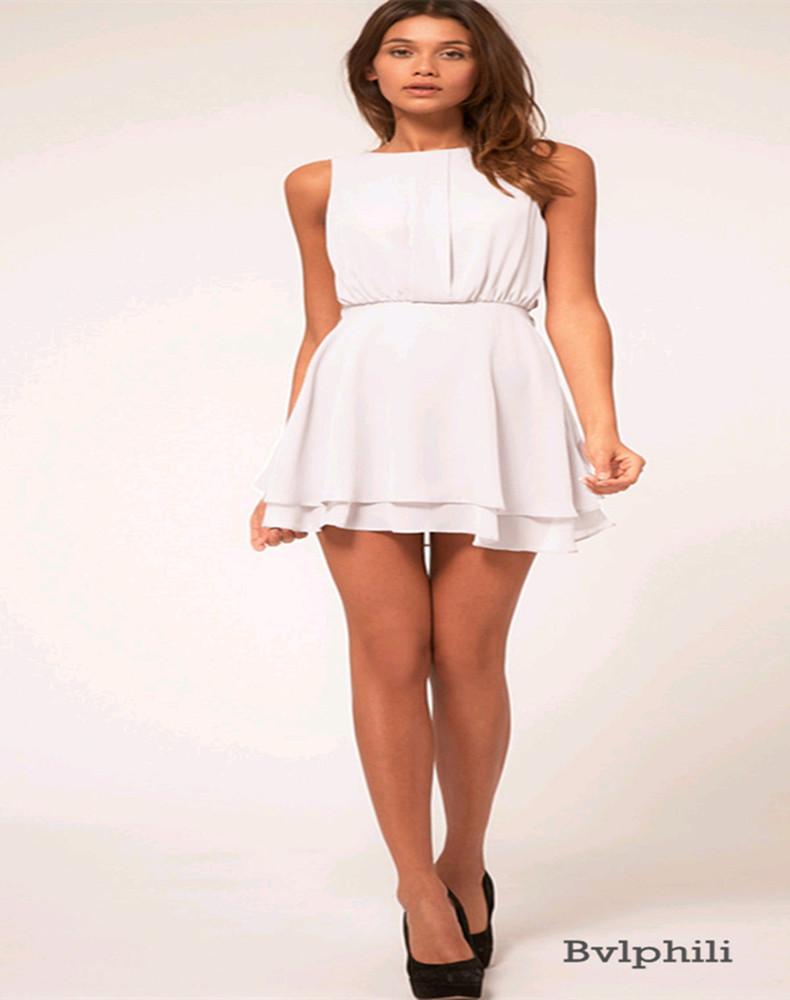 White Chiffon Summer Dress
