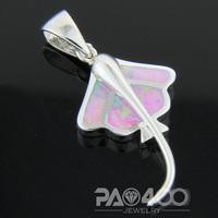 Angel Pink Fire Opal Silver Fashion Jewelry Women & Men Pendant OCP0176F Wholesale & Retail