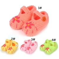 Fashion Crochet Baby Shoes Knitted Baby First Walkers Infant Girls Sneakers Prewalker Shoes  5pair Free Shipping SGX-14001