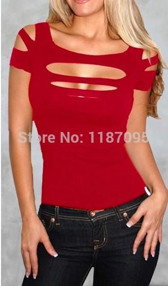 Мода wemon летняя футболка хлопок раздели ветхих голые груди сексуальная рубашка