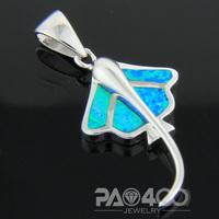 Pacific Blue Fire Opal Silver  Fashion  Jewelry Women & Men Pendant OCP0176L  Wholesale & Retail