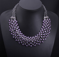 NEW Fashion Chunky Sparking Crystal Collar Choker Statement Necklace Luxury Crystal Necklaces & Pendants Jewelry for