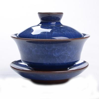 porcelain thin tea pot 160ml lotus china gaiwan underglazed color kung fu teapot free shipping Cracking
