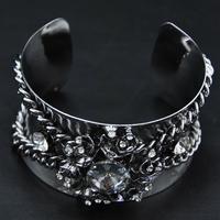 Wholesale Bangle jewelry New Bangle Unique Items Gothic Design Fashion Bijoux Exaggerate Flower Women Indian Bracelet