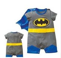 Promotion Summer Romper climbing clothes Romper Newborn Baby Romper muscle Batman Superman Romper