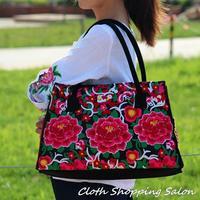 2014 New National Ethnic Style Embroidery Bags Handmade Embroidered Shoulder Messenger Bag Women's Casual Big Vintage Handbag