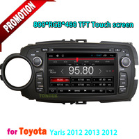 7 inch TFT Touch screen car dvd player with GPS  Radio Bluetooth TV USB  SD For Toyota Yaris 2012~2014