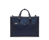 AB066 blue OL designer high quality Leather Briefcase Tote bag Handbag free shipping drop shipping