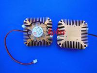 10pcs Aluminum Heatsink with fan for 5W/10W High Power LED light Cooling Cooler DC12V free ship