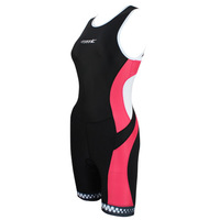 2014 SANTIC Triathlon Ironman Cycling  Padded Shorts Bike Jersey  Women's Bicycle One Piece Sleeveless Coverall Vest Shorts