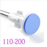 110-200cm Stainless steel bathroom rod shower curtain rod curtain rod retractable pole shower curtain hanging rod clothes rail