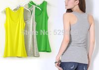 Free Shipping!Summer Hot-selling Woven Modal Cotton Rib Knitting Women's Tank Tops Long Design