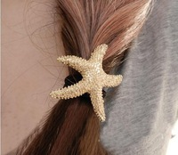 2014 new fashion Starfish star hair Accessories hair jewelry Gold Plated Sea Star Hair Bands elastic for hair Korean Jewelry