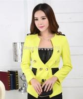 New High Quality Uniform Design 2014 Fall Winter Formal Women's Blazer Coat Jacket Tops Outwear For Office Work Wear Plus Size