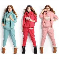 2014 Women Cardigan sport sweater spring autumn winter high quality women's sweatshirt hoodie sportswear Outwear 3pcs/set
