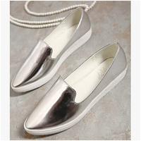 2014 New Hot Selling Women's  Flat Platform rhinestone shoes Women fashion Shoes solid Creeper Shoes S099