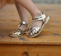 2014 Hot Sale Summer Sandals For Girls Hollow Out Sandals  PU Leather Children's Boots Wedding 29-36