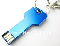 Hot Sale Stainless Steel Key shape 8GB/16GB/32GB usb Free Shipping ,Brand A grade chips , Full Capacity ,No Upgrade !
