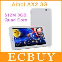 7'' Ainol AX2 Quad Core 3G Phone Call Tablet PC MTK8382 Quad Core 1.3GHz Android 4.2.2 512MB 8GB GPS Bluetooth WCDMA 1024x600