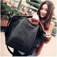 2014 fashion handbag High quality fashion handbag messenger bag black big bag free shipping