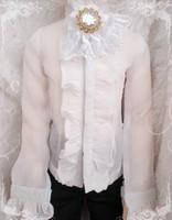 [wamami] White Lace Collar Bow 1/3 & 1/4 SD MSD AOD BJD Dollfie
