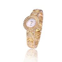 2014 New Fashion Women Dress Watches  Rhinestones Dialmond Dial Quartz Watch Alloy Bracelets Bangle Women Wristwatches 2 Colors