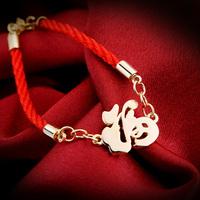 2014 red string bracelet red hand-rope bracelets accessories red string fu word bracelet