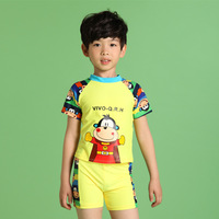 2014 amaranth child swimwear split boxer swimwear male child beach fashion hot springs