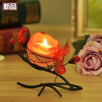 Romantic rose tieyi mousse decoration dining table desktop home decoration crafts