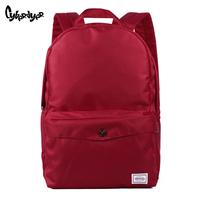 2014 backpack double-shoulder women's handbag casual solid color bag female bag student school bag