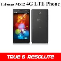 Original 5.0'' Infocus M512 4G LTE Phone Quad Core 1GB+4GB Gorilla Glass Screen 1280*720P 8.0MP Android 4.4 Cellphones NFC OTG