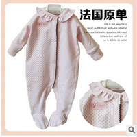 Children's wear autumn new baby newborn children cotton pink jumpsuits ha clothing climb clothes even feet