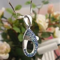 Zircon rhinestone  female short design chain silver jewelry  pendant female accessories