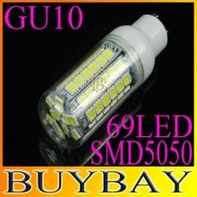 New arrival SMD5050 GU10 15W LED corn bulb lamp,chandelier 69LED 5050 Warm white/white,GU10 5050SMD led lighting,free shipping(China (Mainland))