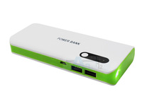 Green Power Bank 16800mAh External Battery Charger Backup Battery Charger Dual USB Portable Charger Mobile Power