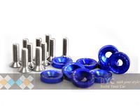 Mystical Blue !!Password:JDM Fender Washers 1set = 10 washers and 10 pcs bolt - Car Styling