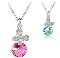 Luxury  natural crystal austria  female crystal pendant chain dish