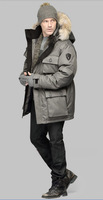 Fall 2013 Canada Top Brand Nobis Men Down Jacket Fur Cap Fashion Coat Warm Clothes Outerwear Long Parka Barry Clothing bay925