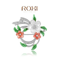 2014 Seconds Kill Crystal Brooches Free Shipping Christmas Gift Fashion Alloy Brooch Flower Crystal Jewelry Women For Wedding