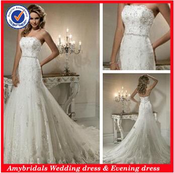 WD132043 Curved Neckline popular designer bridal dress patterns(China (Mainland))
