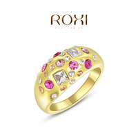 Jewelry Anel Rings Roxi Christmas Gift Classic Genuine Austrian Crystals Fashion Kiss Fish Ring 100% Man-made Big Off