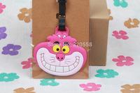 1PCS Cheshire cat PVC luggage tags/  Travel Name Tag/ Bag decoration
