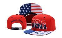 American Flag Peaked Cap USA Letters Flat Brimmed Hat Snapbacks All Matched Men Baseball Cap Embroidery Hip-hop Cap