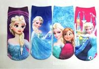 Frozen Girls Socks anna elsa socks for kids Summer Baby Cotton Socks Cartoon Children Normal Sneaker Socks 12Pairs/Lot 1-10Yrs